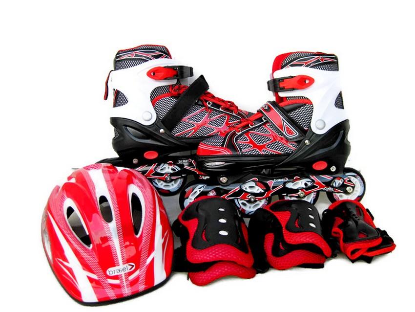 Jual Brasel In-Line Skate Sepatu Roda 1 set - Merah - ValerieHome ... cc8ab6f57e
