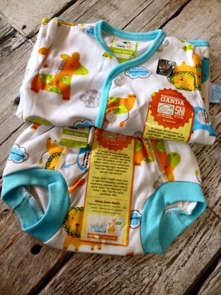 Jual Setelan Baju Bayi Velvet Motif Animal Size Newborn ...