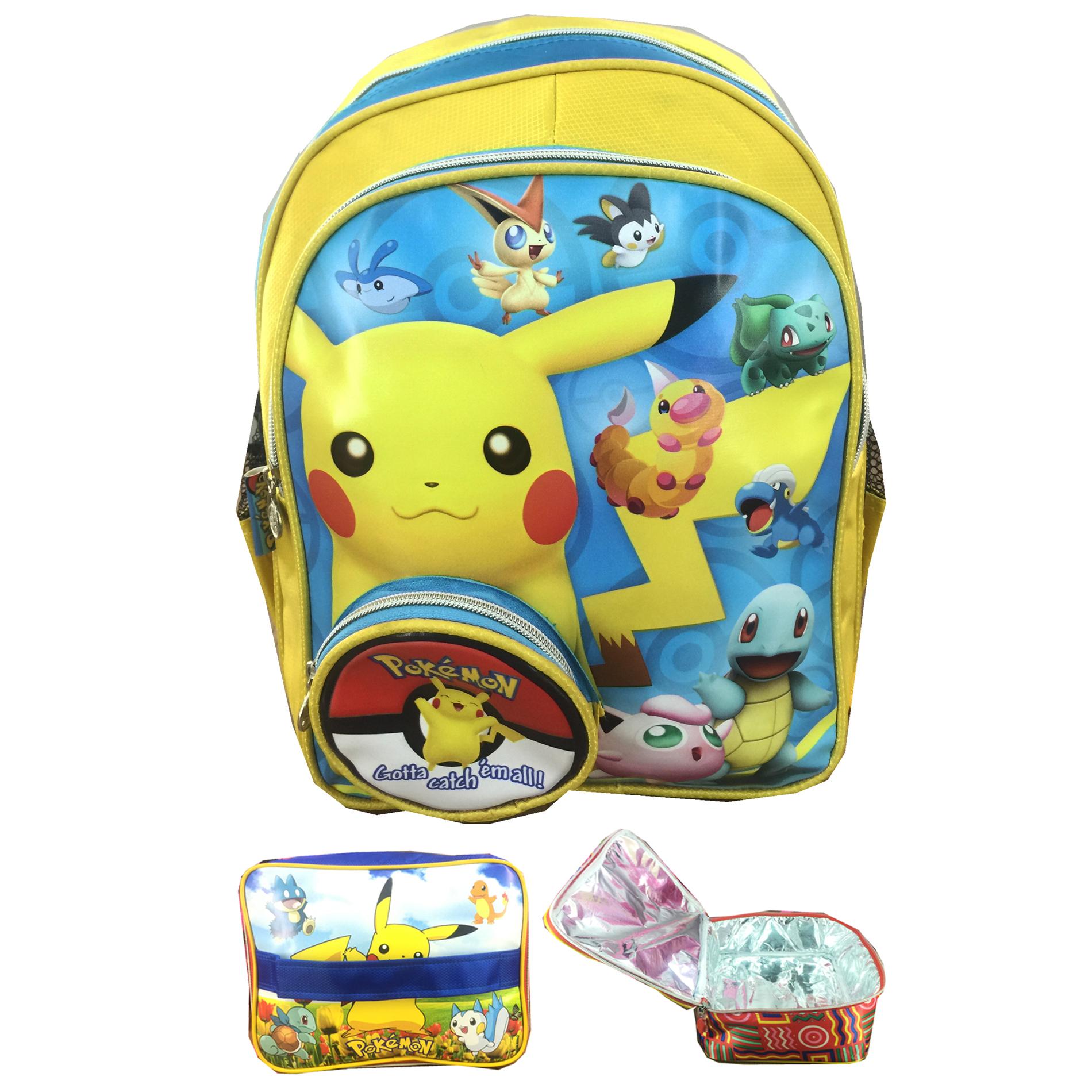 Jual Tas Ransel Sekolah Anak TK Pokemon Go Pikachu Koin Timbul LB - Grace Store Jakarta   Tokopedia