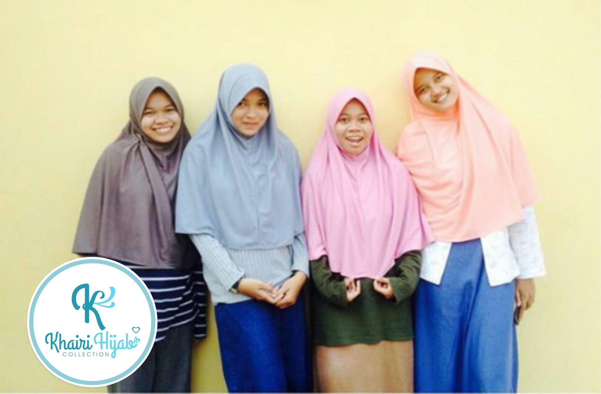 Jual Jilbab Polos Hijab Kaos Jilbab adem Jilbab Sekolah Size L Khairi Hijab
