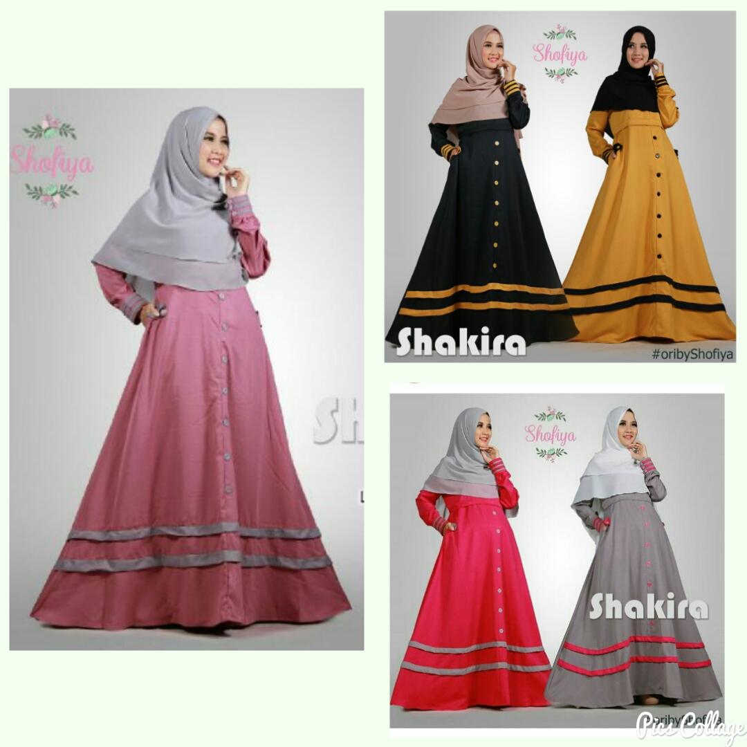 Gamis Only Busana Muslimah Longdress Winster Syari Toko Alina Dress Balotely Shakira Dres Full Color Ori Shofiya