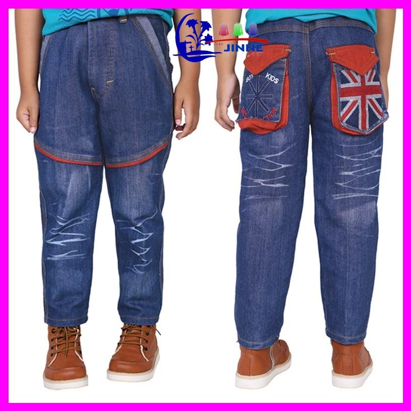 CBE 095: Celana Jeans Anak Panjang Pendek Biru Bahan Anak Laki Laki
