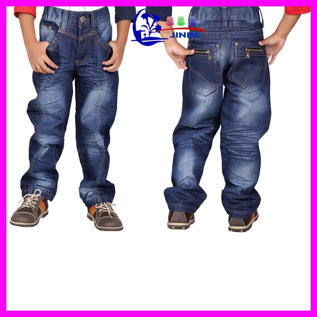 CNU 130: Celana Jeans Anak Panjang Pendek Biru Bahan Anak Laki Laki