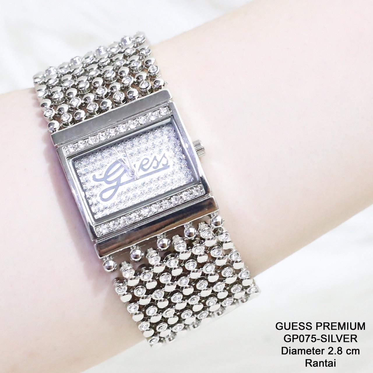 Jam tangan guess MERICA rantai permata diamond mote wanita grosir