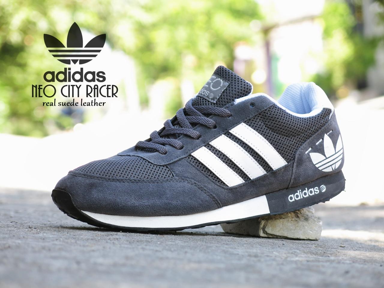 ... denmark jual sepatu sport adidas neo city racer grade ori abu2 putih  kets casual lapak sepatu 406bdbe9ef