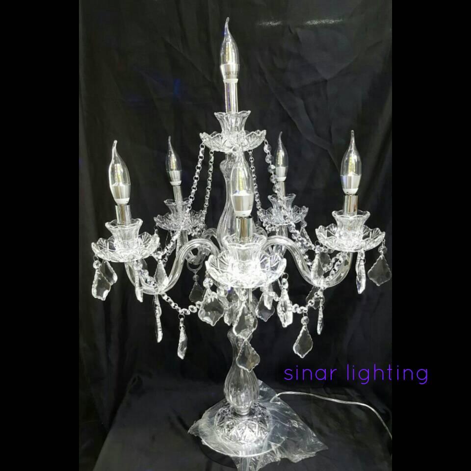 Jual chandelier table lamp crystal kota surabaya sinar lighting