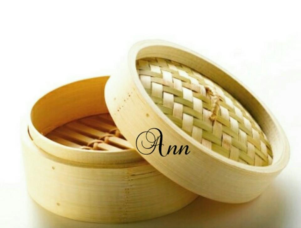 Deluxe Klakat Dimsum Set 15 Cm Kukusan Bambu (Wadah + Tutup)