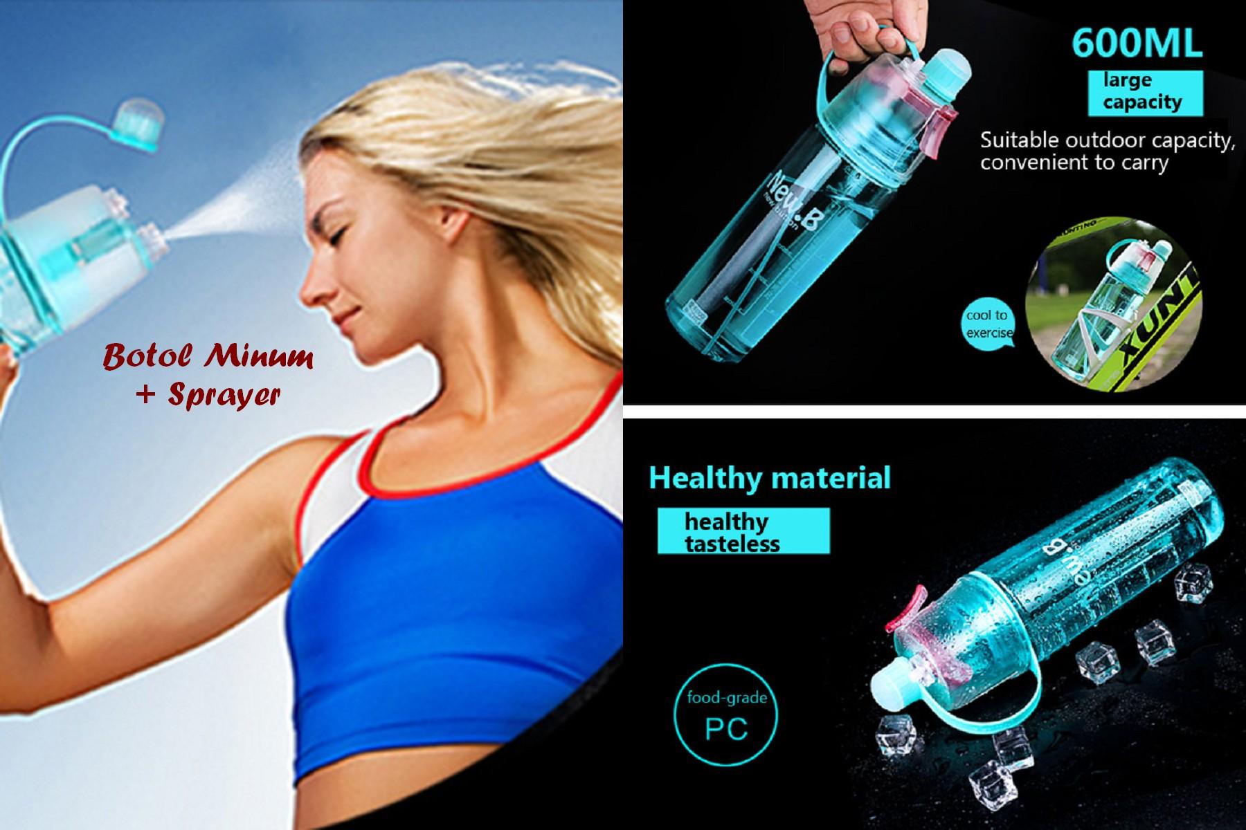 Jual Botol Minum Spray Dunia Dapur Ku Tokopedia New B Dengan 600ml