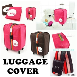 Luggage cover, Cover Koper, Sarung Koper include belt - Blanja.com
