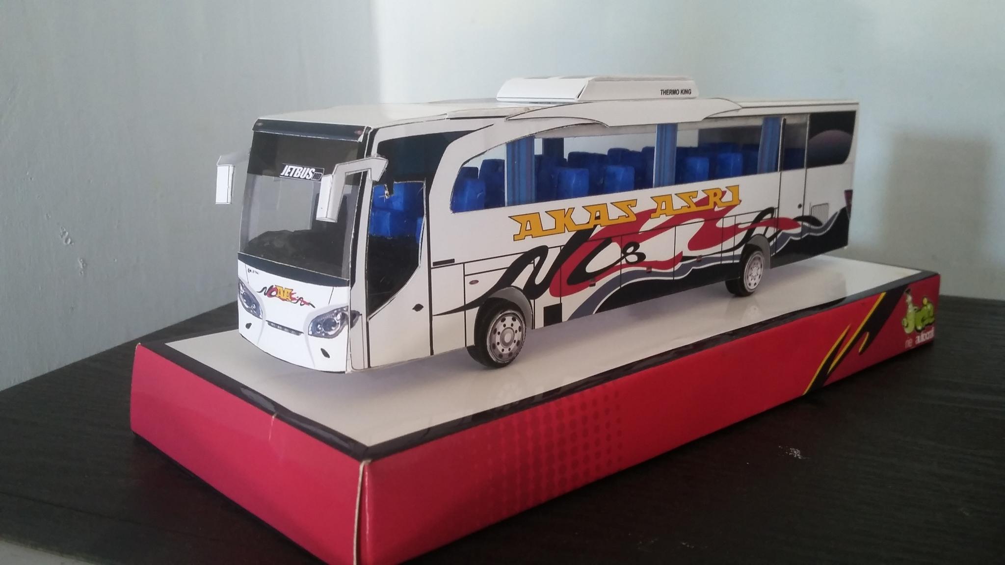 Jual Miniatur Bus Akas Jetbus Kab Malang Rie Autocraft