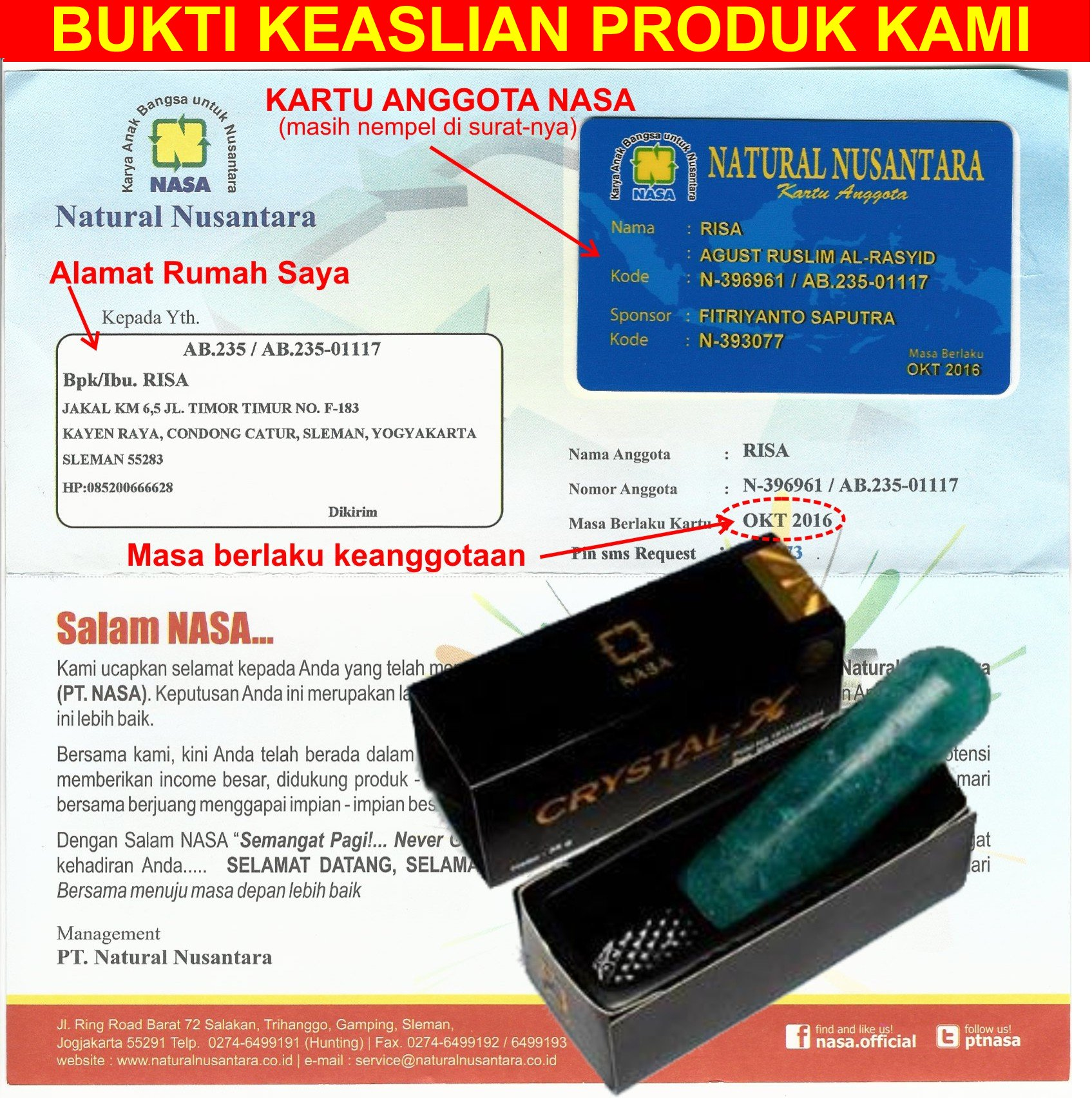 Cristal Xnasa Original 1 Kotak Daftar Harga Terlengkap Indonesia Crystal X Ori Nasa Kristal Asli