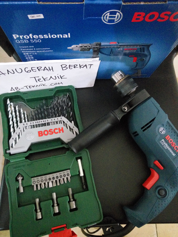 PROMO Paket Bor Beton Bosch GSB550 Dan Mata Bor Bosch Set Komplit