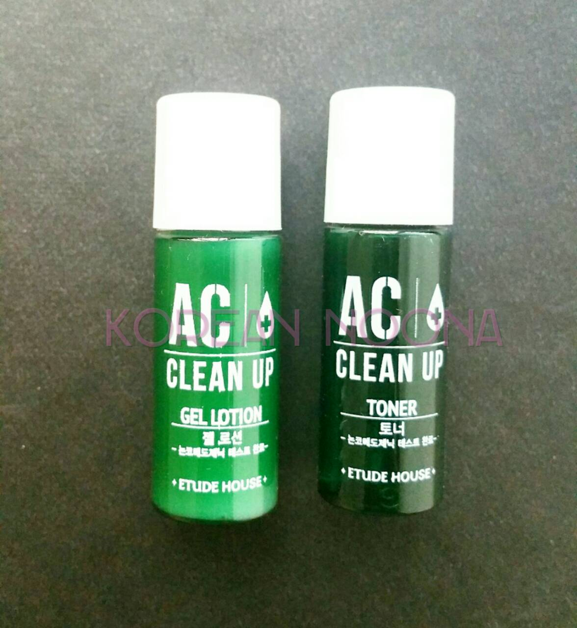 Jual ETUDE HOUSE AC Clean Up MINI SET (Lotion 5ml + Toner 5ml) - Korean Noona | Tokopedia