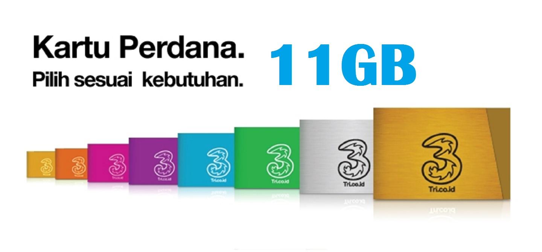 Kartu Perdana 3 Tri Three Aon Kuota 11 Gb 1 Tahun Daftar Update 6gb Jual Internet 11gb Reguler Sabar Card