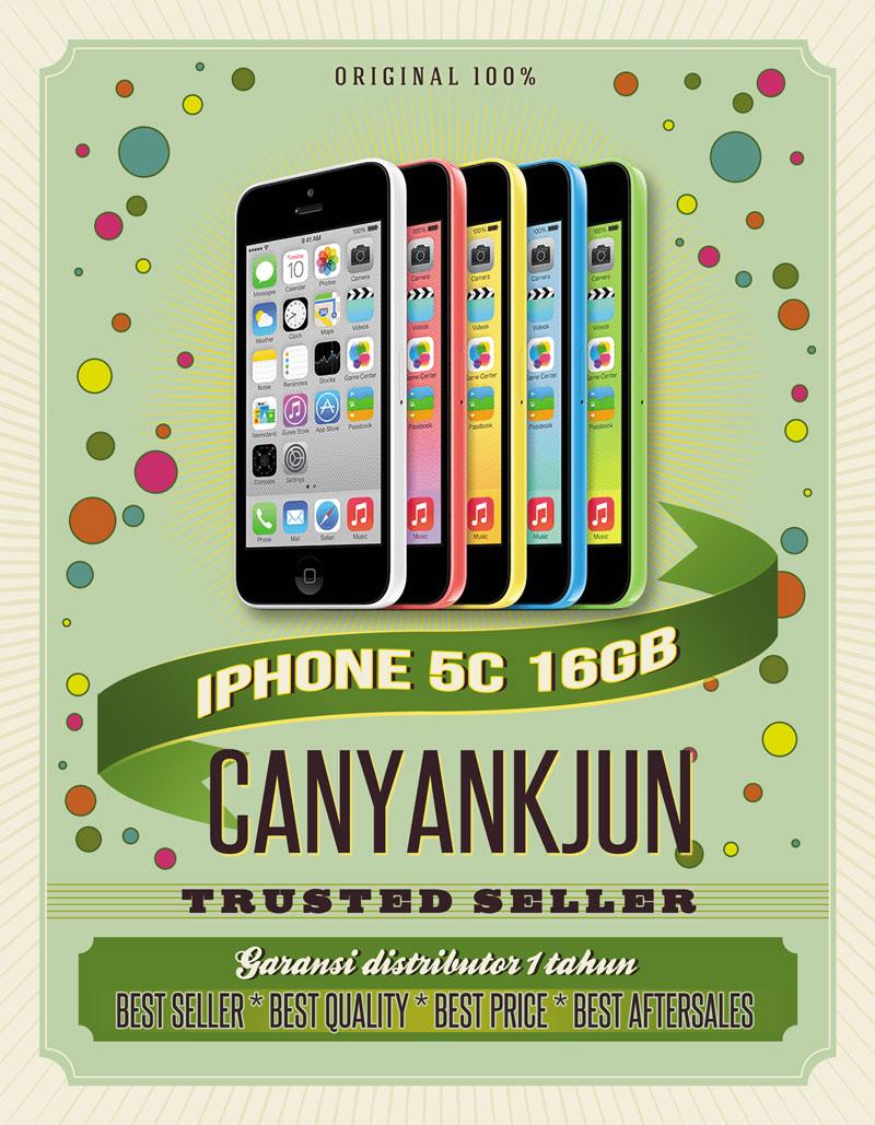 Jual Iphone 5c 16gb Garansi Platinum 1 Tahun Canyankjun Tokopedia 5 16 Gb