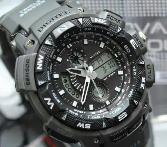 jam tangan digitec sport dg-2044t double time original