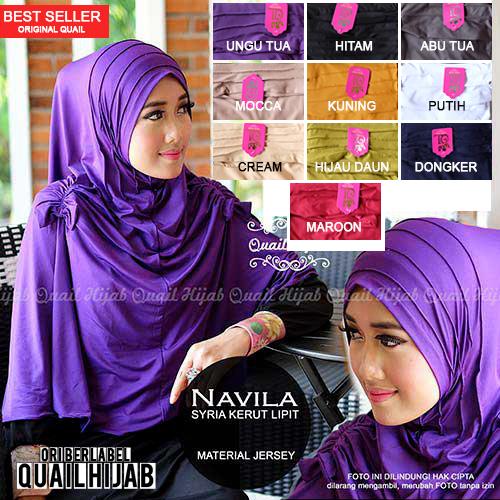 Jilbab Syiria Navila - Quail Hijab Brand
