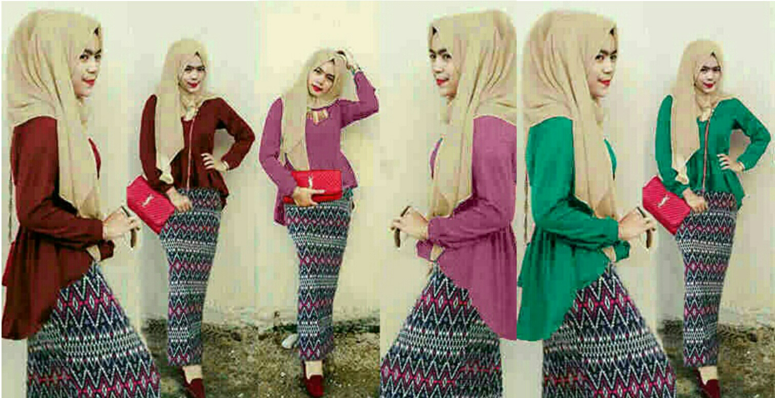 Set hijab tribal