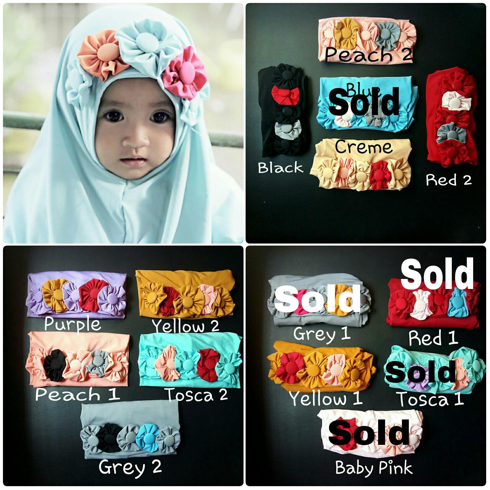 Flower Hijab|Hijab Baby|Jilbab Bayi|Kerudung Bayi