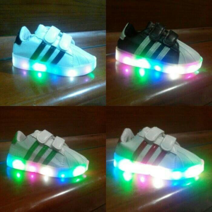 Jual Sepatu import anak LED adidas superstar keren size 21-25 ... 5d16ac9af9