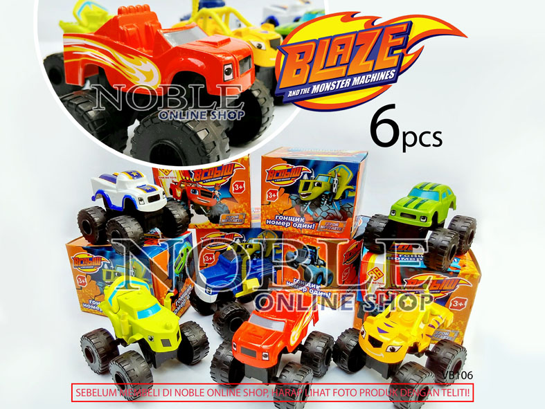 Jual 6pc Blaze And Monster Machines Cars Toys Figurevehiclemobil