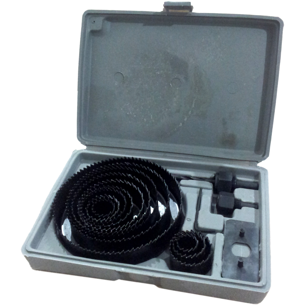 Holesaw Kit / Hole Saw Kit / Mata Bor Pelubang Kayu Set 16pc Nankai