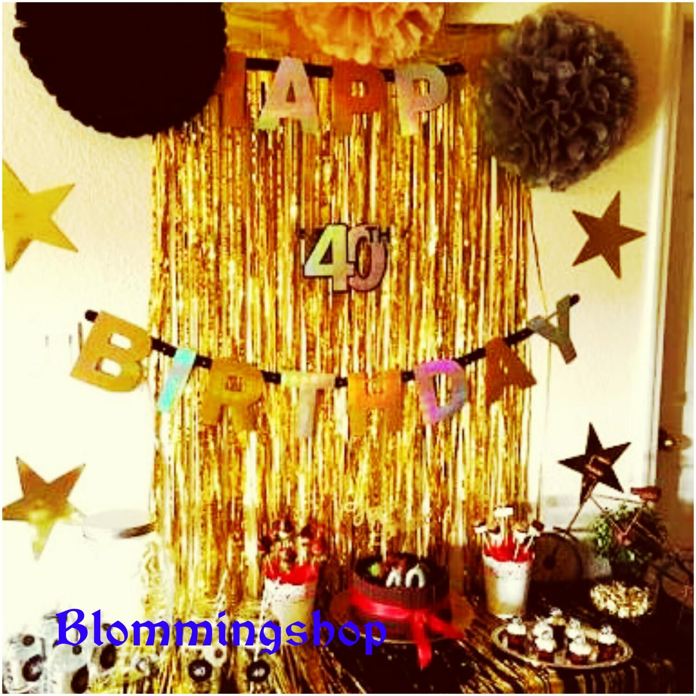 Balonasia Dekorasi Backdrop Tirai Foil Gold2 Update Harga Terkini Jual Curtain Decoration Blomming Shop Tokopedia