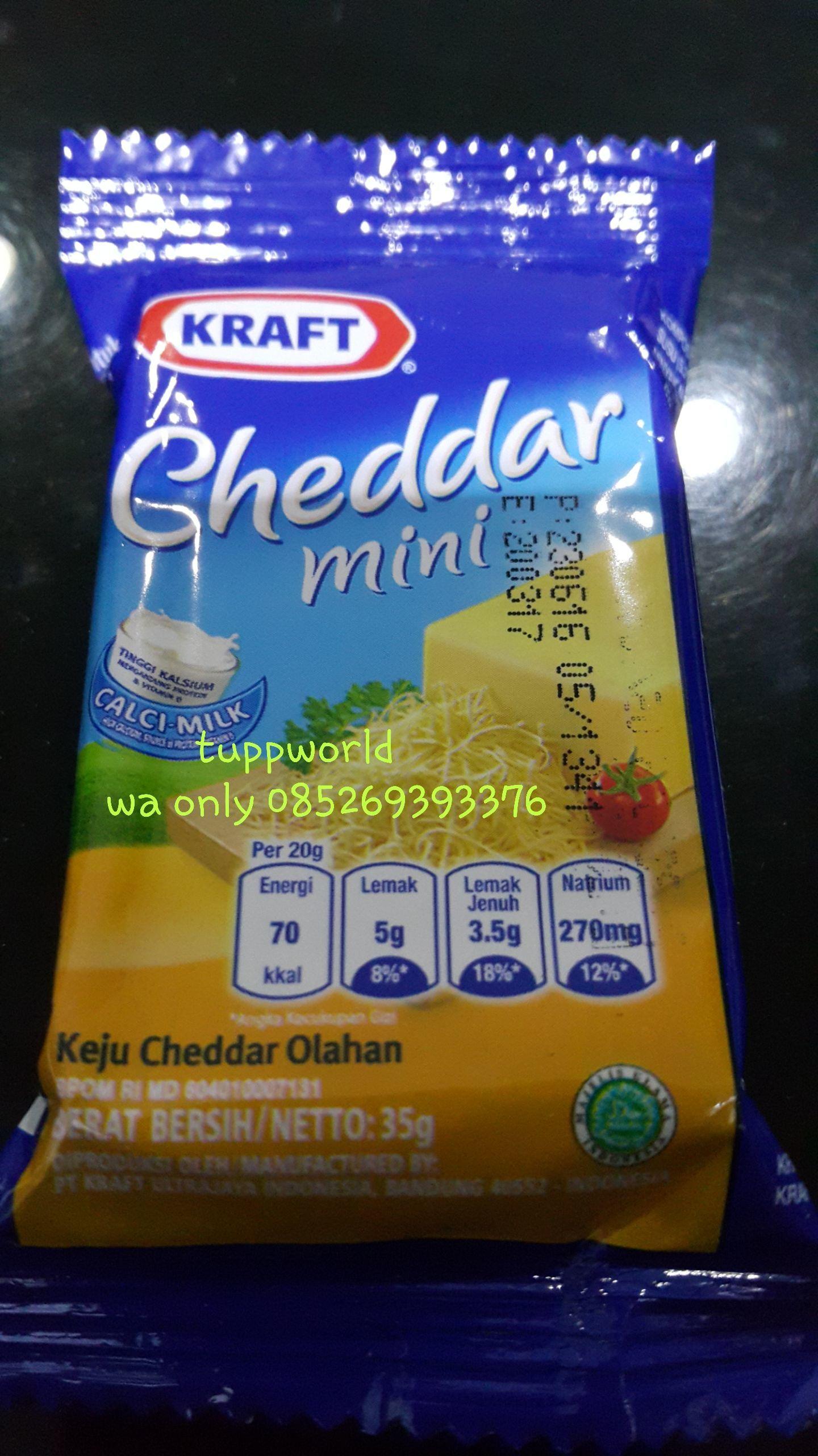 Jual Keju KRAFT Cheddar Mini 35gr