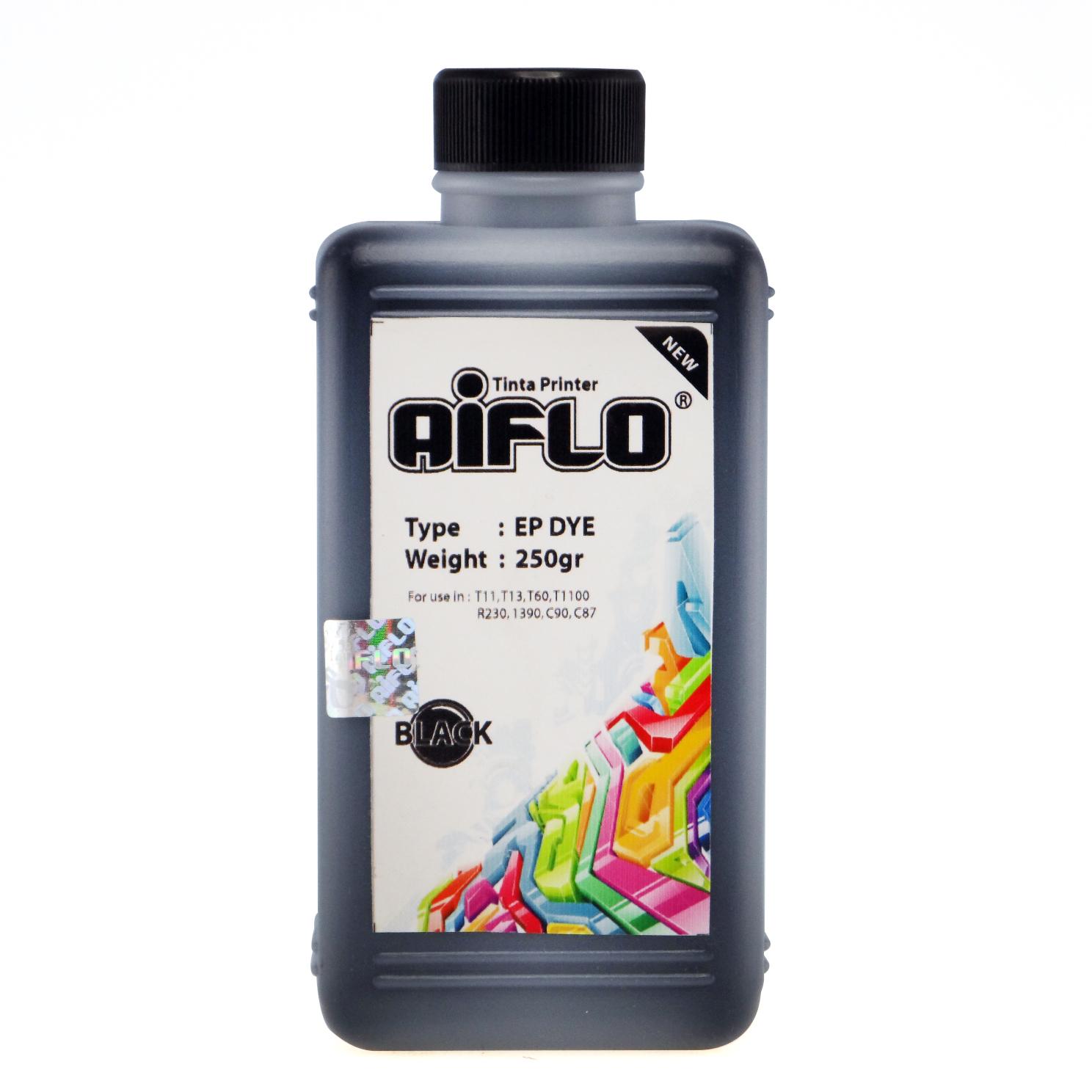Tinta Printer Aiflo Black 250ml Untuk Epson 1390 T60 T1100 T13 R230