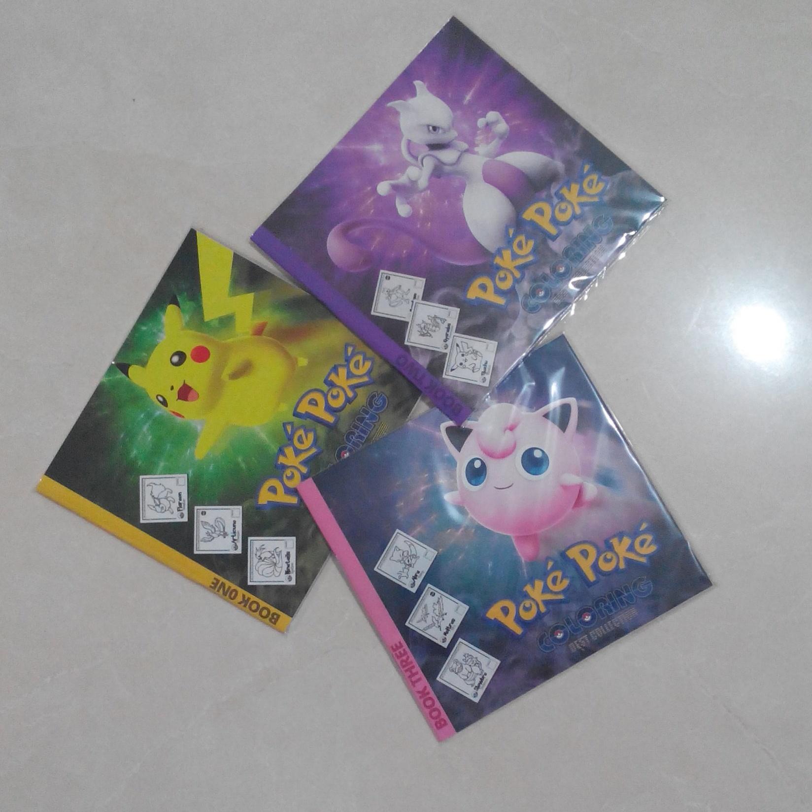 Jual Satu Set Buku Gambar Mewarnai Pokemon Limited Edition Kota