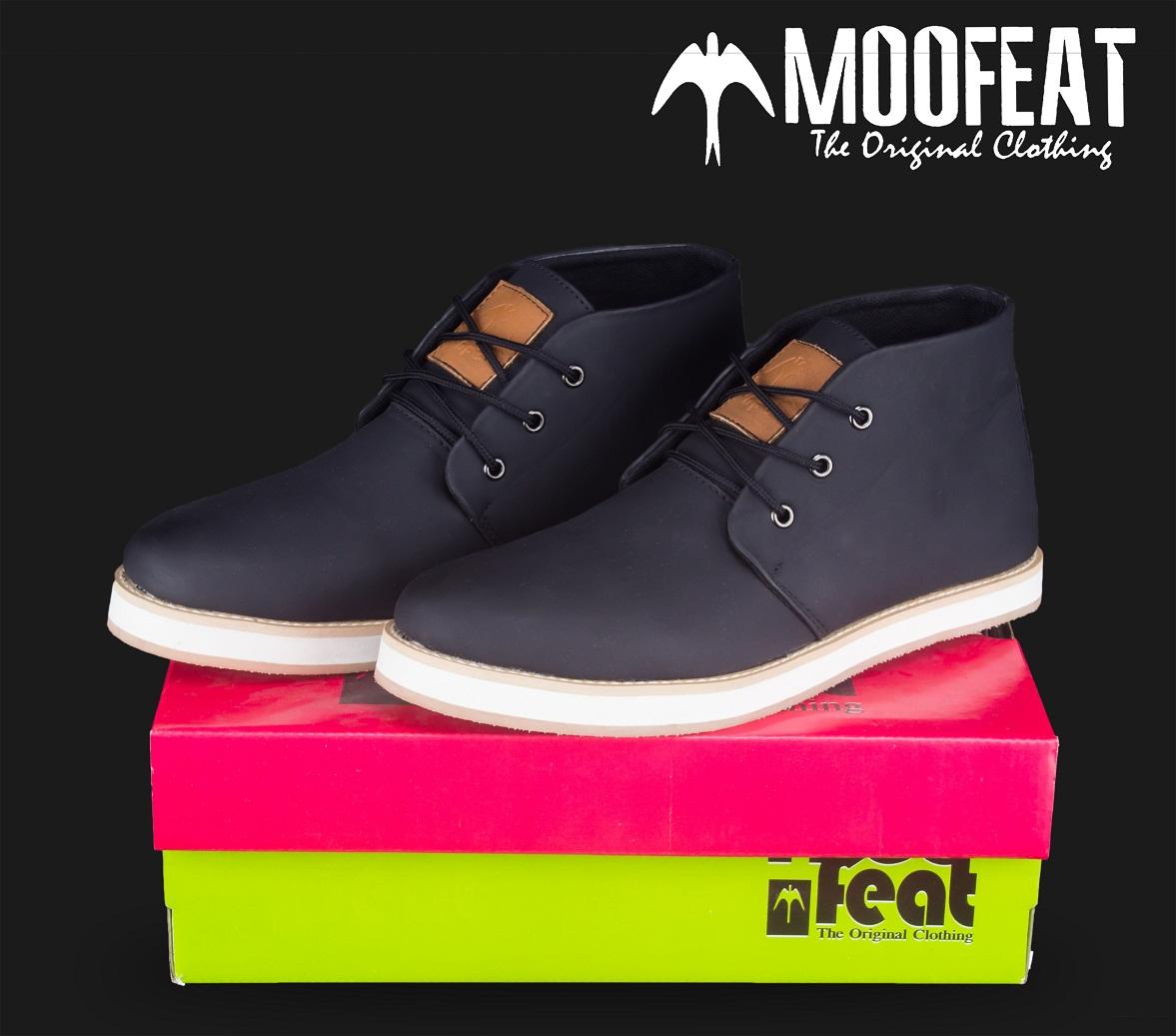 Jual Sepatu Moofeat Chuka Black Shoes 100 Original Toto Suryo Tokopedia