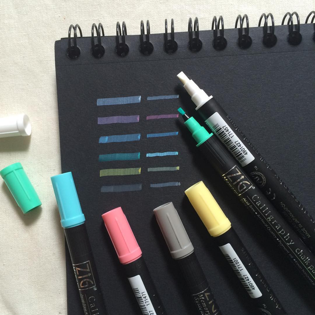 Jual Kuretake Zig Calligraphy Chalk Pastel Marker
