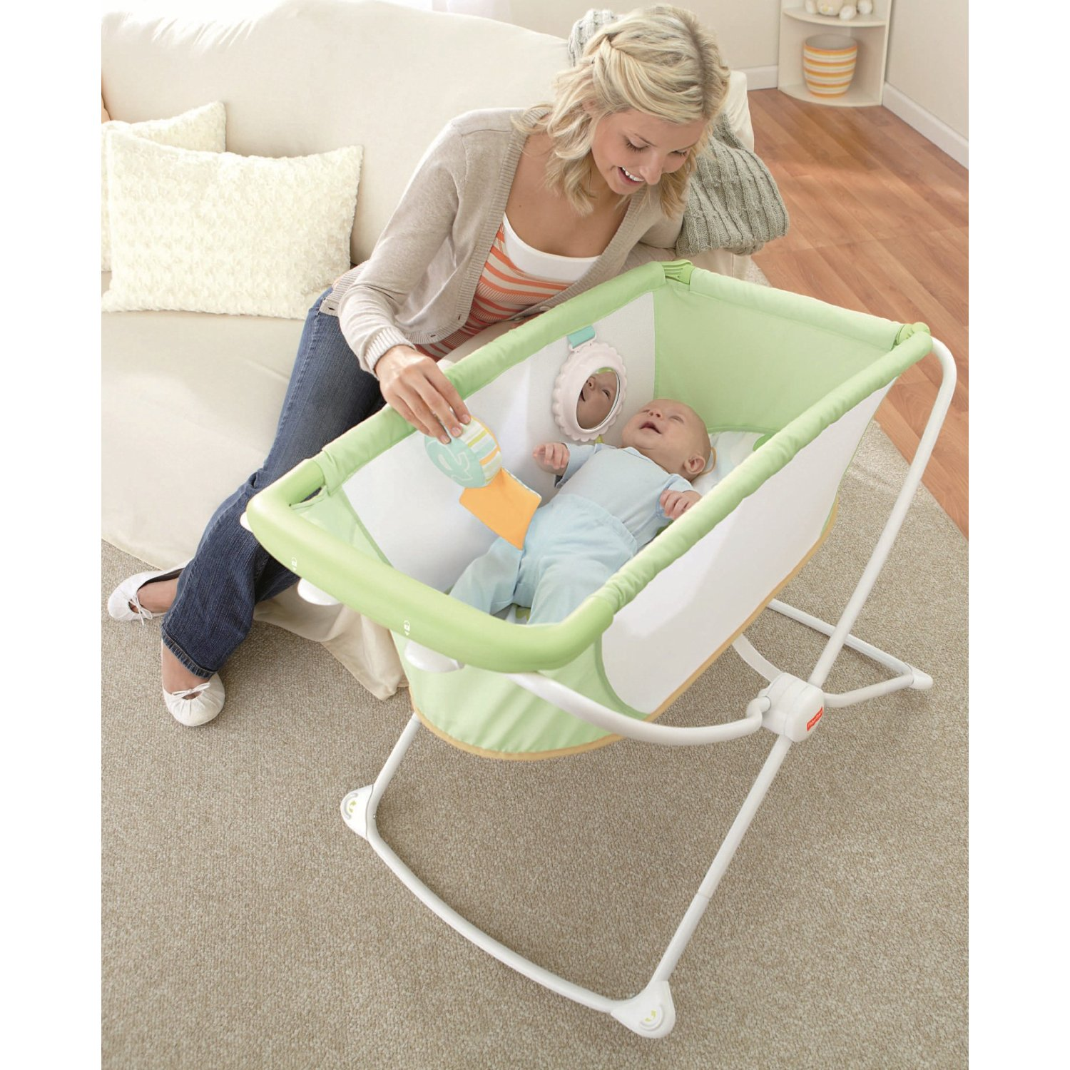 Jual Fisher Price Rock N Play Bassinet Portable Tempat