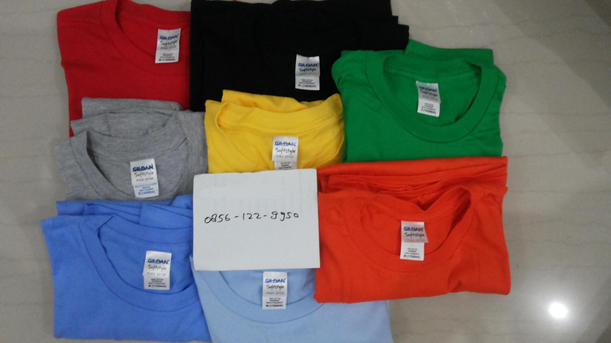 Gildan Softstyle 63000 Kaos Polos Hitam Daftar Harga Terbaru Original Xs S M L Xl Sapphire Update Source Jual