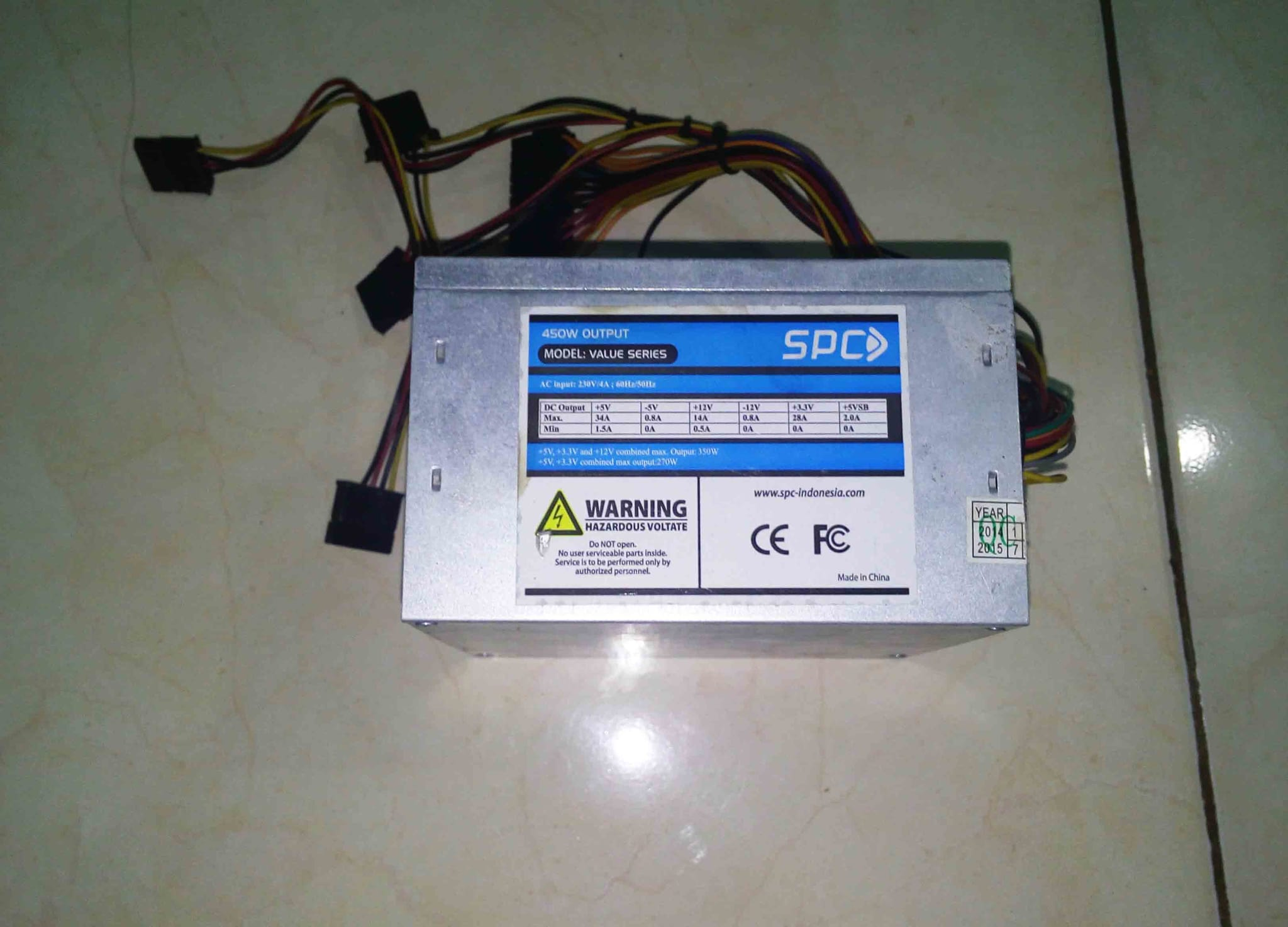 Jual 450W PSU POWER SUPPLY KOMPUTER CPU SPC PUSAT MODUL
