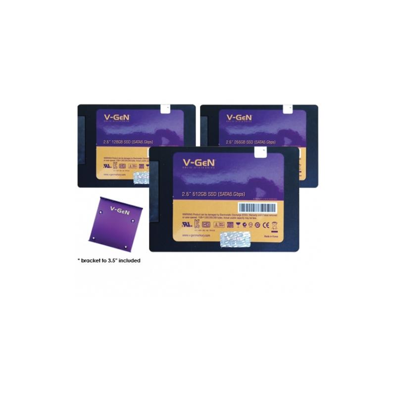 """Harddisk SSD V-GeN 128GB 2.5"""" + Bracket"""