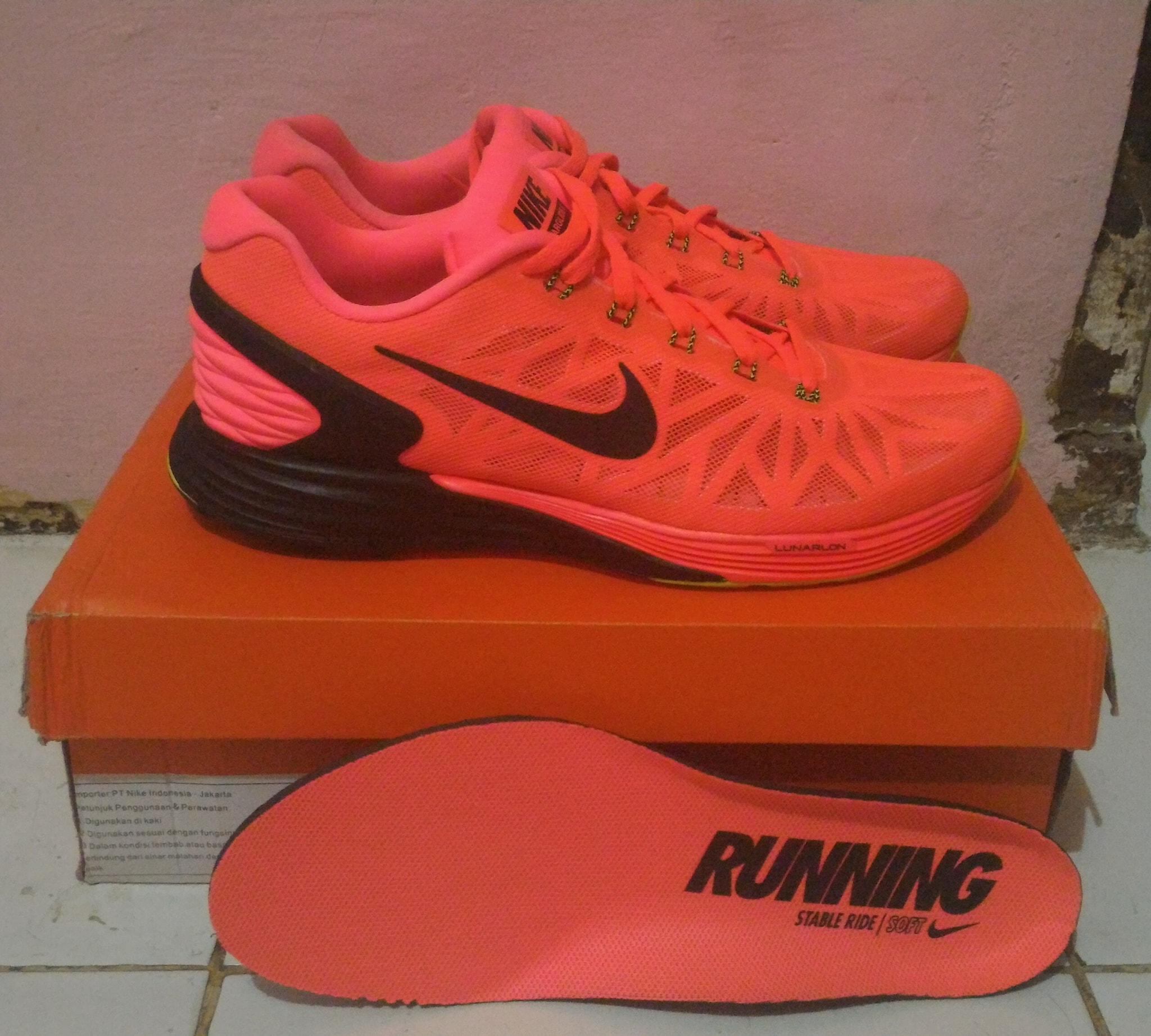 reputable site 1b6c2 f02e6 9ff4c 399ca  top quality sepatu running nike lunarglide 6 hot lava original  df267 b39d6