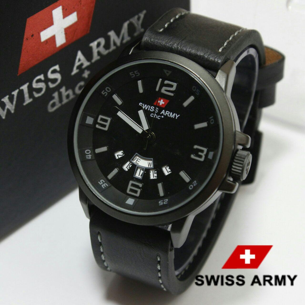 Swiss Army HC-1128 HITAM LIST ABU-ABU ORIGINAL