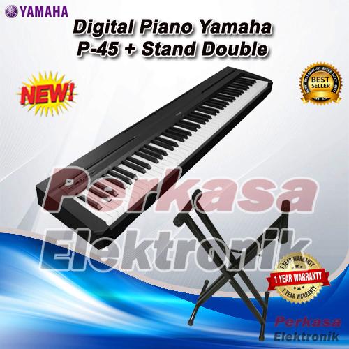 jual digital piano yamaha p45 p 45 p 45 stand perkasa elektronik tokopedia. Black Bedroom Furniture Sets. Home Design Ideas