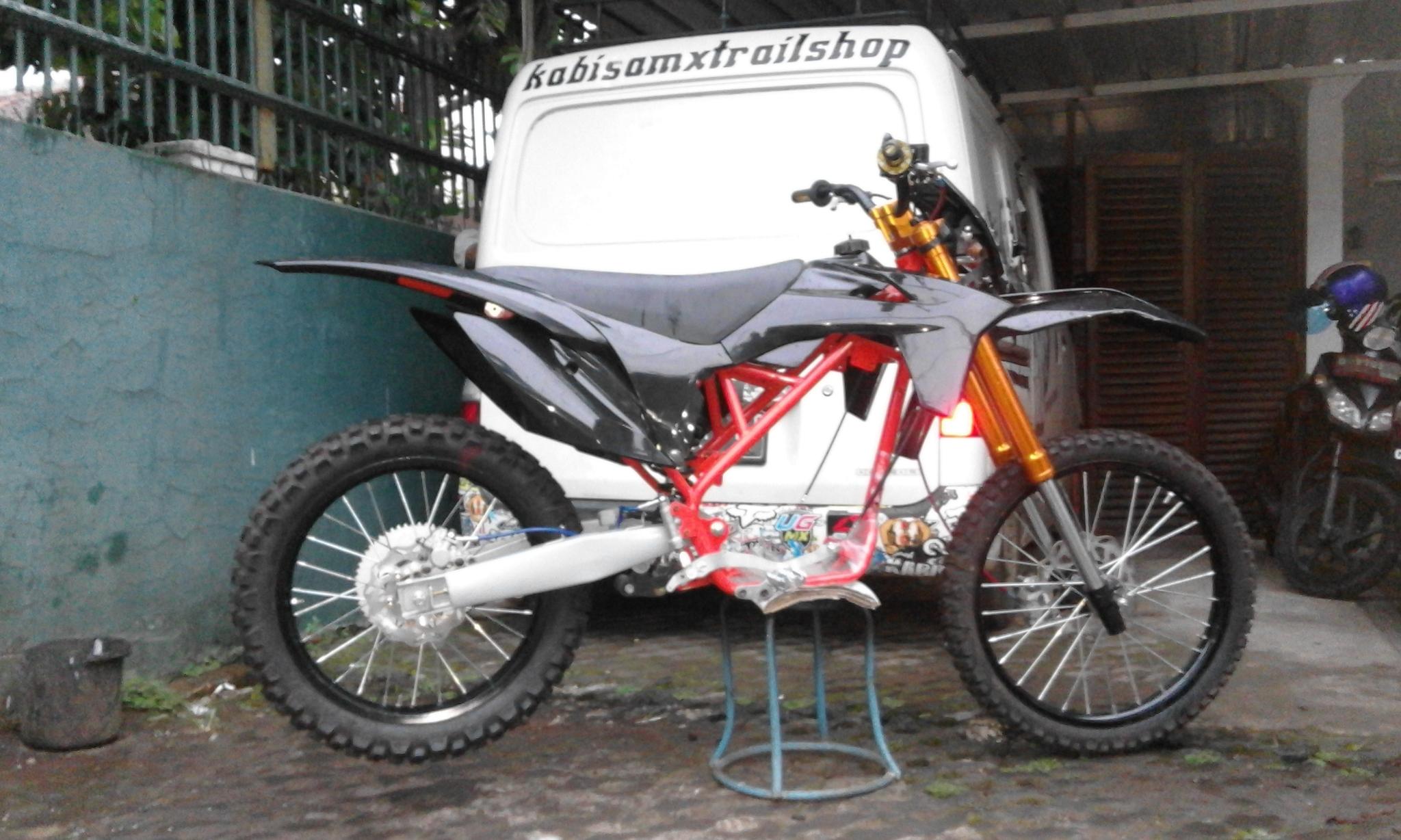 Jual Paket Modif Trail Murah Meriah Klx Body Ktm Tanp Mesin Kaki2
