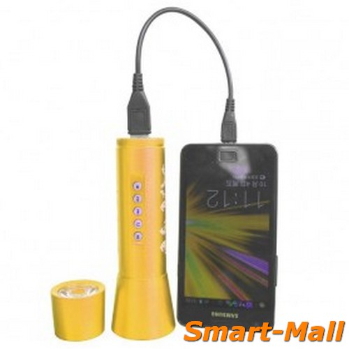 Multifunction LED Flashlight With MP3 Player Support TF Card Slot - JK
