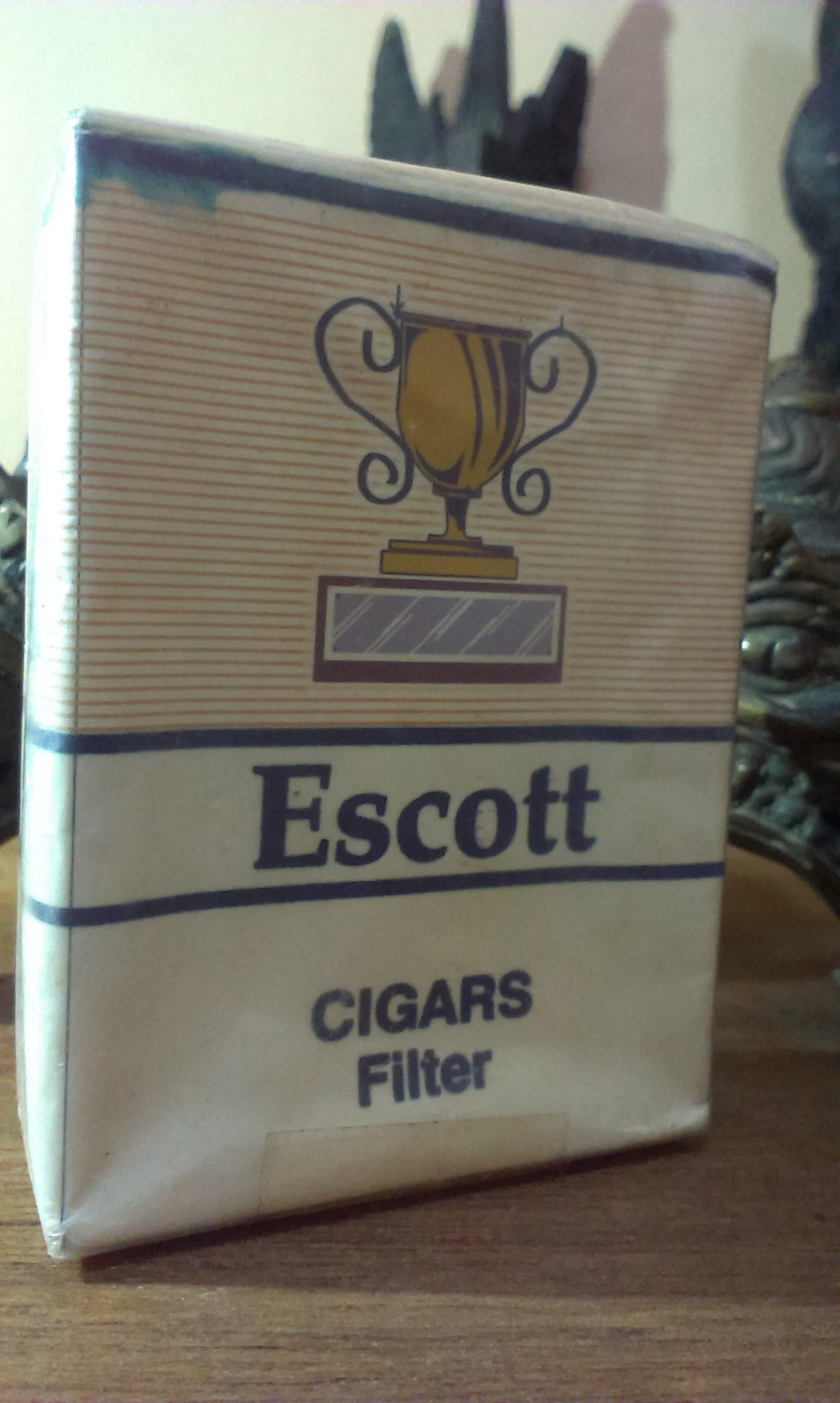 Rokok Jadul Escott King Cigars Filter