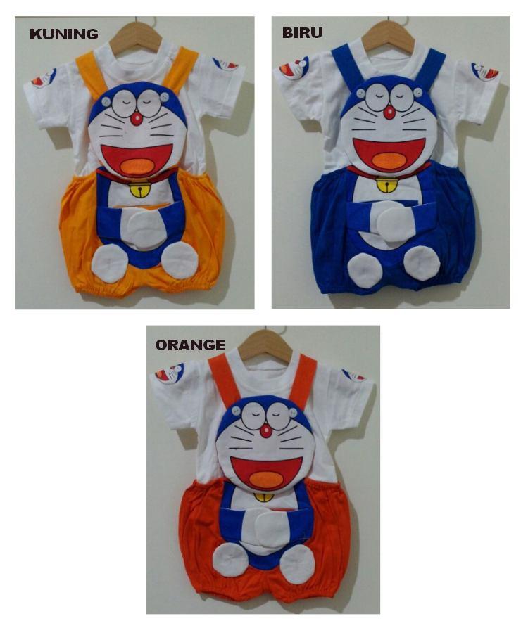 STKDK157 - Setelan Anak Kecil Jumpsuit Doraemon Hug Murah