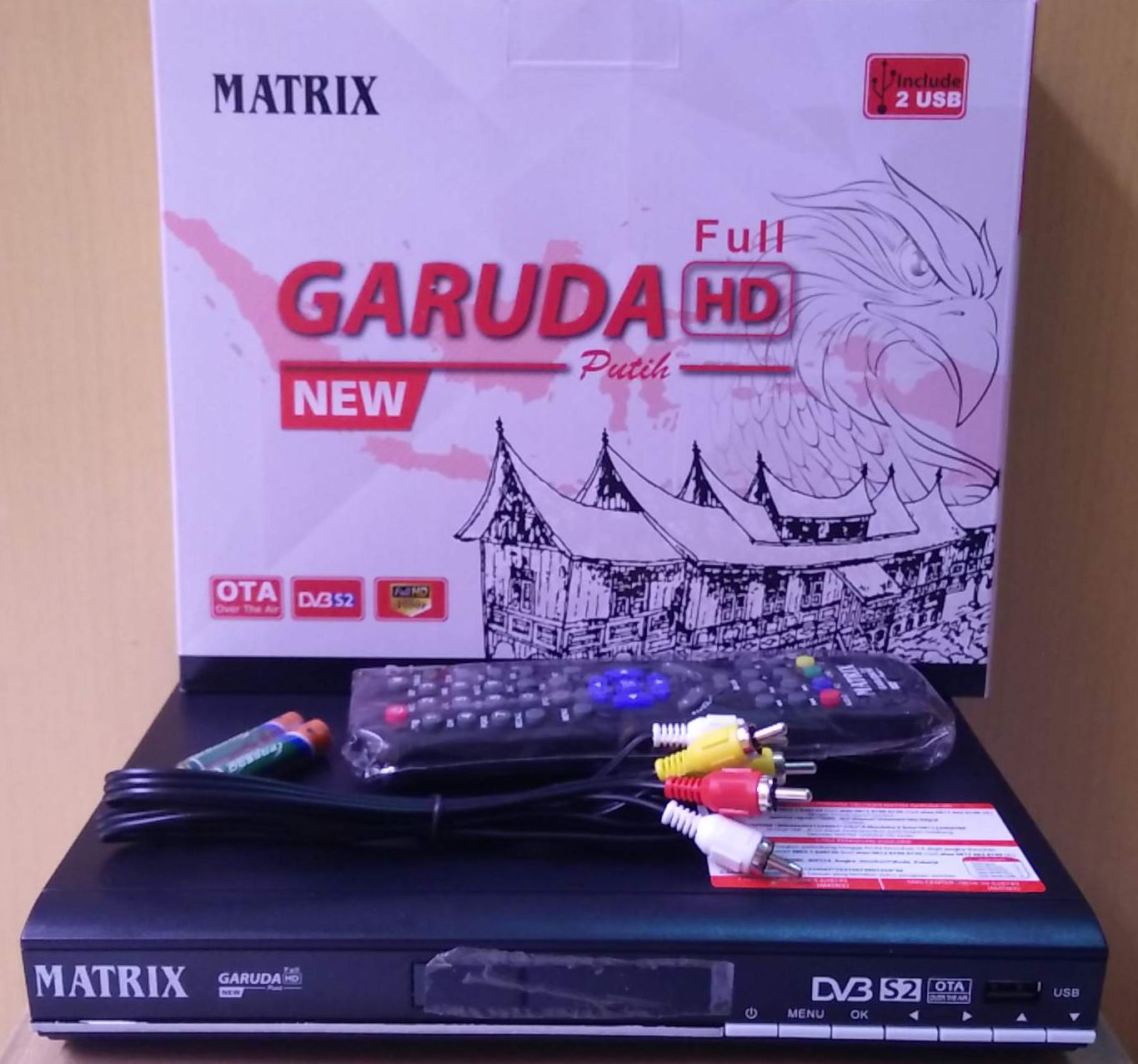 Receiver Parabola Matrix Garuda Full HD Putih