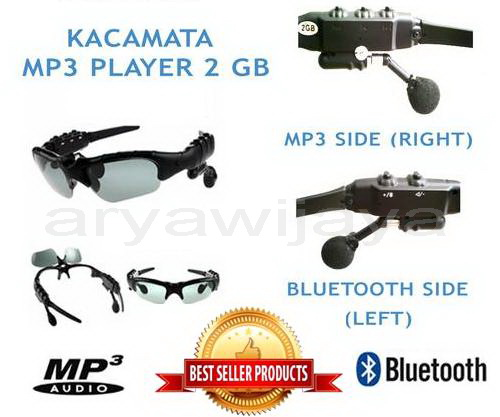 Kacamata / Sunglass Mp3 Player Bluetooth 2 Gb