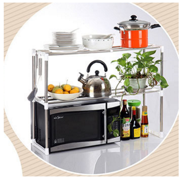 Jual Rak Besi Stainless Steel Piring Panci Wajan Baju Mangkok Microwave Undip Gadget Market Tokopedia