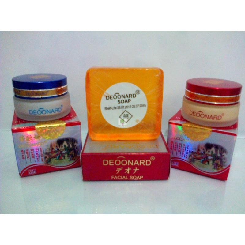 Paket Deoonard Red Bleaching / Deonard Merah 20 Gr + Sabun Ginseng