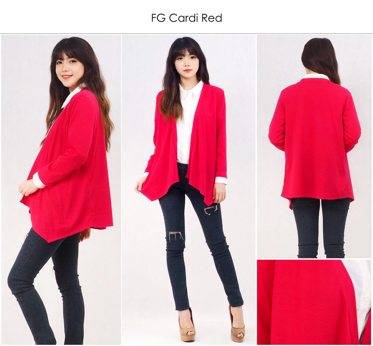 Jual Red Branded Cardigan Merah S M Cardy Baju Outer Wanita Polos Flash  Blazer Denim Pakaian Navy L Martob Organizer Tokopedia