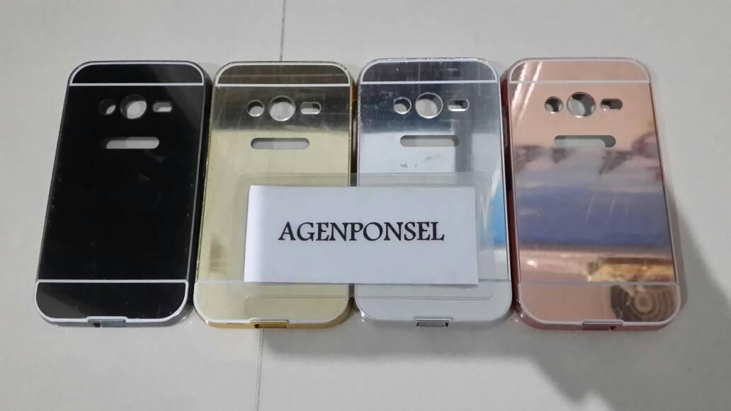 Jual Mirror Case Samsung Galaxy V G313 Bumper with Sliding Samsung Galaxy V - Berkah Pusat