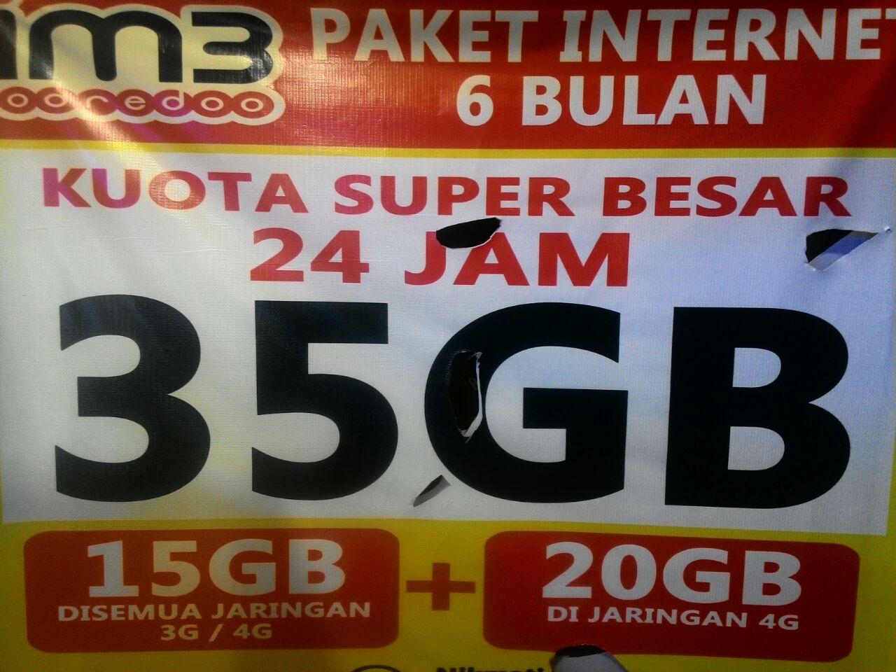 Jual kartu perdana internet 35GB 4G dan 3G indosat ooredoo cool phone cellular .